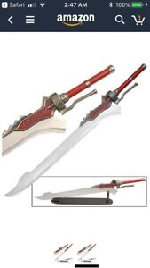 Devil May Cry Red Queen Sword of Nero and Wooden Wall Plaque