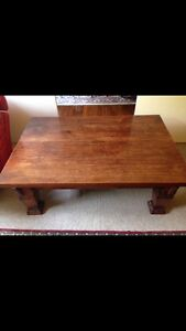 Large teak timber coffee table. Darling Point Eastern Suburbs Preview