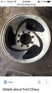"Looking for rims like this. 16.5"" 8x 6.5 bolt pattern"
