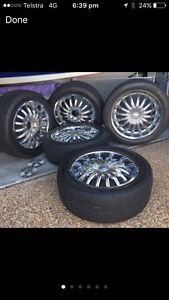 20 inch 6 stud wheels x 5 hilux 4x4 ranger bt50 so on Upper Coomera Gold Coast North Preview