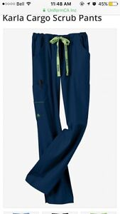 Navy crocs scrub pants