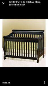 Bily Sydney 4 en 1 lit de bébé et bureau