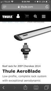 Jeep Cherokee Thule roof rack system 2014-19