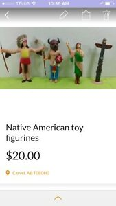 Native American toy figurines