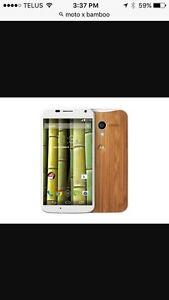Moto X bamboo white