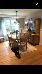 Dining Table & 8 Chairs with beautiful Buffet ( bottom piece )