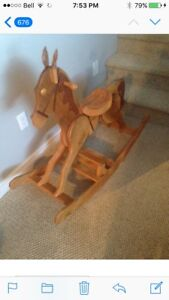 Hand made lee valley patterned rocking horse