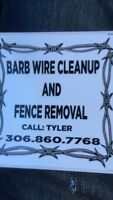 Barb wire clean up