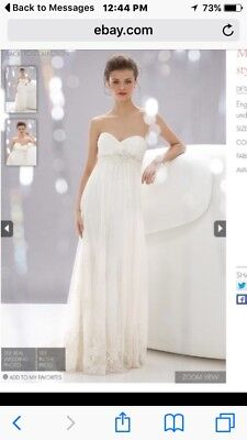 Wtoo Strapless Lace Wedding Dress With Train Size 14