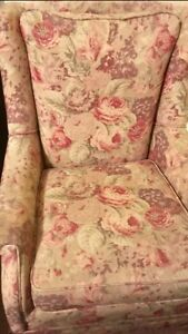 Floral print rocking chair