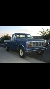 Ford truck with 6.9 diesel.
