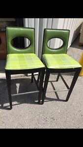 "2 green barstools 29"" high London Ontario image 1"
