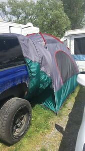 Tent that attaches to truck, van or SUV