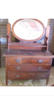 Antique Dresser with Mirror Brookwater Ipswich City Preview