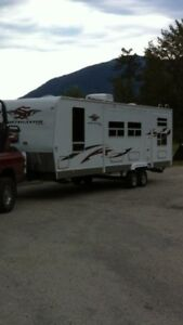 Luxurious travel trailer for rent in the Shuswap
