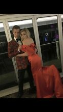 Red Satin Formal Dress with Train Norman Park Brisbane South East Preview