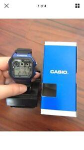 Casio Men's AE1300WH-2AV classic digital referee timer watch