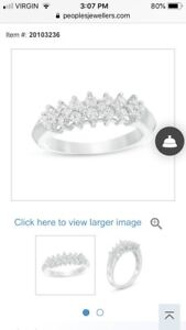 FURTHER REDUCED!!  0.45 CT. T.W. Diamond Band in 10K White Gold