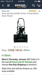 Brand New Electric Snow Thrower