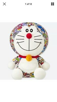 Uniqlo X Takashi Murakami X Doraemon Plush Stuffed Toy In Hand Rare Limited New