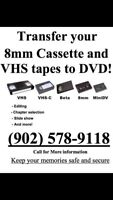 Transfer your VHS and 8mm tapes to DVD or USB !!