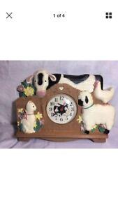 Farm scene vintage kitchen clock