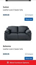 Leather look 2 seater sofa Ashmore Gold Coast City Preview