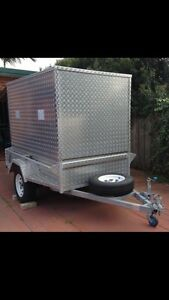 FOR HIRE FOR RENT Aluminium Plate closed Box Trailer Eastlakes Botany Bay Area Preview