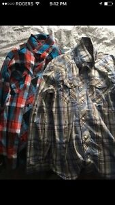 Men's large plaid shirts (2)