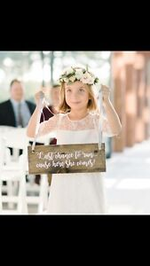 Wooden Flowergirl Sign