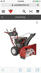 "28"" troy built snowblower"