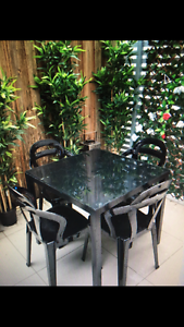 Glass top dining table and chairs Balmoral Brisbane South East Preview