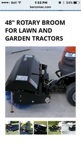 """48"""" Rotary Broom for Lawn & Garden Tractors"""