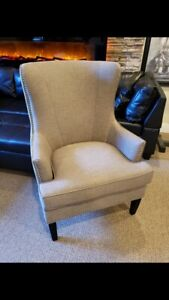 NEW!!!! Grey wingback accent chair