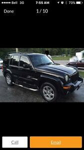 2002 Jeep Liberty limited  Peterborough Peterborough Area image 1