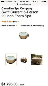 Round 5 person hot tub