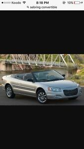 Looking for convertible Sebring