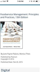 Food services practices and principles textbook