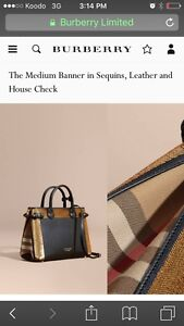 Selling brand new with tags Burberry banner handbag $1700