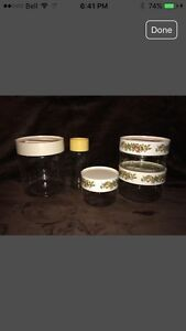 Various Vintage  Pyrex Canisters