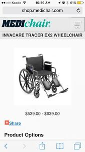 Tracer by Invacare 1000 series collapsible wheelchair Edmonton Edmonton Area image 3
