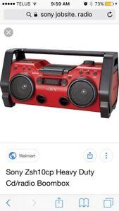 sony jobsite radio