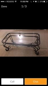 Beautiful glass coffee table with two end tables
