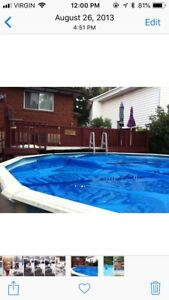 Above ground 21 foot pool