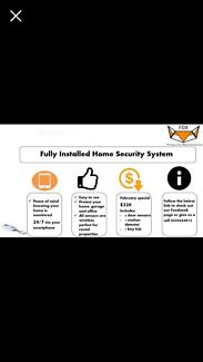 Fully installed and monitored home alarm