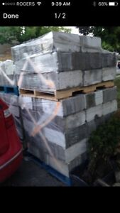 Clean cinder blocks