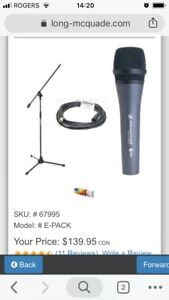 Sennheiser E835 Mic with 5 Meter Cable and Boom Stand