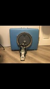 Suitcase kick drum