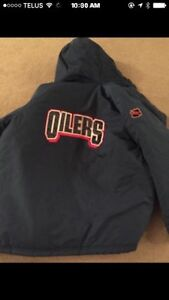 Oilers puma winter jacket brand new - large