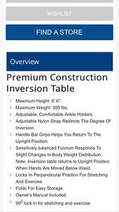 Inversion Table for sale London Ontario image 3